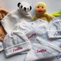Geborduurde baby artikelen